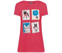 T-Shirt mischfarben / cranberry