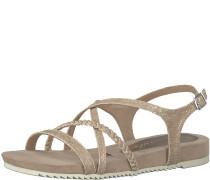 Sandale geflochten beige
