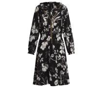 Kleid mokka / schwarz / weiß