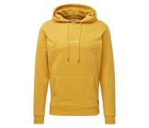 Sweatshirt 'Lens' gelb / weiß