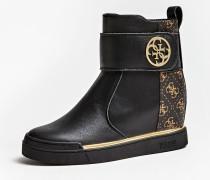 Sneaker 'Falon' gold / schwarz