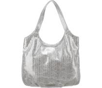 Handtasche silber / weiß