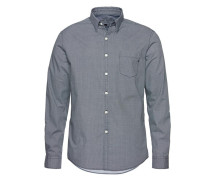 Hemd dunkelblau / weiß