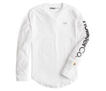 Shirt 'LS Co-Op Print Logo' weiß