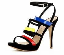 Damen Sandalette mischfarben / schwarz