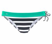 Bikini-Hose türkis / schwarz / weiß