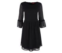 Plumetis-Kleid schwarz