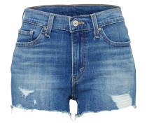 High Waist Jeans Short dunkelblau