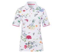 Poloshirt 'Cleo' mischfarben / weiß