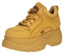 Sneaker mit Plateau beige / gelb