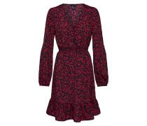 Kleid '3Pe Annie LS Butn Shirred Min' rot