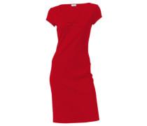 Shirt-Kleid rot