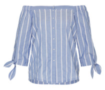 Off Shoulder Bluse blau