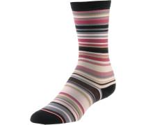 Sneakersocken rosa / schwarz