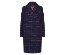 Mantel nachtblau / orange