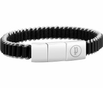 Armband 'pj26203Bls.01' schwarz / silber