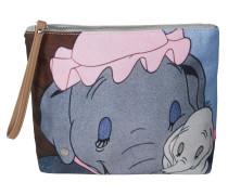 Clutch mit Dumbo-Motiv hellgrau
