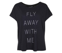 T-Shirt 'fly Away' nachtblau / weiß