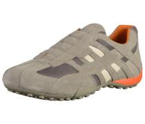 Sneaker beige / rauchgrau / dunkelorange