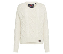 Pullover 'clara Lace Knit' creme