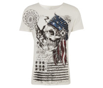 T-Shirt 'MT Indian Skull round'