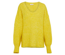 Oversize Pullover gelb