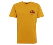 T-Shirt 'Big Toe Tee' senf / rot