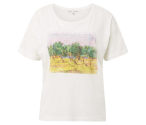 T-Shirt mischfarben / weiß