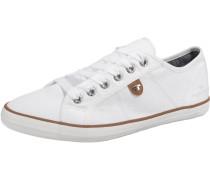 Sneaker Low braun / weiß