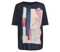 T-Shirt hellblau / dunkelblau / altrosa