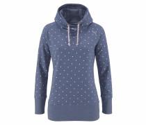 Sweatshirt 'Yowah' himmelblau / weiß