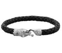 Armband 'Schlange' schwarz / silber