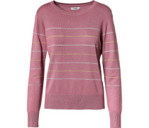 Pullover gold / rosa / silber