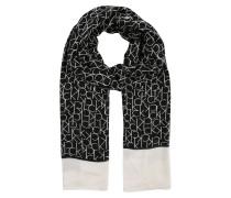 Schal mit Logo schwarz