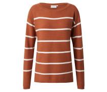 Pullover 'Amaria' weiß / braun