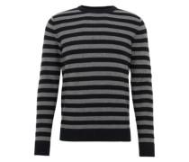 Pullover 'jorwall Knit Crew Neck' dunkelgrau / schwarz
