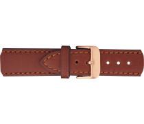 Uhrenarmbänder braun / rosegold