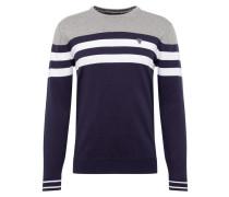 Pullover weiß / dunkelblau / graumeliert