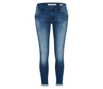 Washed-Jeans 'lexy' blue denim