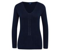 Chevron stitch sweater navy