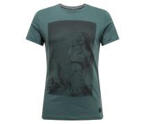 Shirt 'Tee' grün / schwarz
