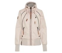 Sportliche Jacke creme / rosa