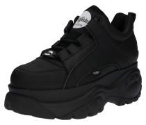 Sneaker mit Plateau schwarz