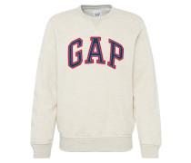 Sweatshirt 'arch Crew' beige / blau / rot