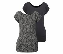 Shirt (2er Pack) schwarz