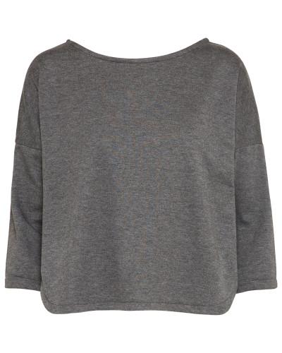 Shirt dunkelgrau / weiß