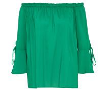 Off-Shoulder Bluse grün