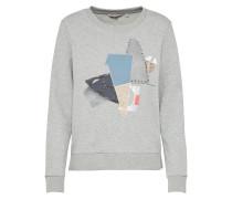 Sweatshirt hellblau / graumeliert
