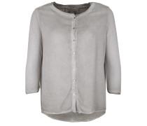 Bluse Button grau