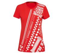 T-Shirt 'rdm601 34' rot / weiß